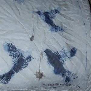 Alexander McQueen Accessories - Alexander McQueen Hummingbird Scarf